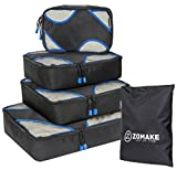 ZOMAKE Packing Cubes 4 Piece Set - Travel Accessories Organizers Versatile Travel Packing Bags Plus Free Laundry Bag