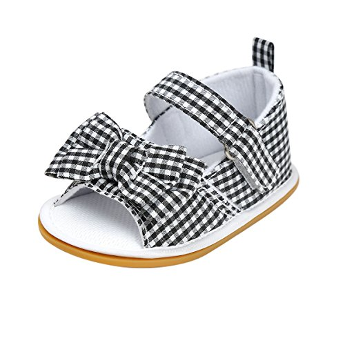 Kuner-Baby-Girls-Cotton-Bowknot-Rubber-Sole-Non-slip-Outdoor-Toddler-Summer-Sandals-First-Walkers-Shoes