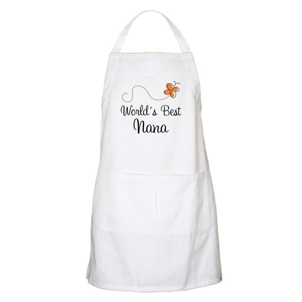 Amazon.com: CafePress – Worlds Best Nana delantal para ...