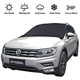 Arteesol Windshield Sun Shade Protector,Snow Cover Magnetic Universal Wind Screen Frost Cover Snow