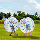 Inflatable Bubble Ball, 1.2M 4FT Diameter Bumper Soccer Ball as Blow up Toy for Children, Teens, Adults (US STOCK) (Blue)