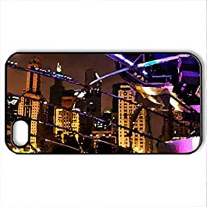 Amphitheater - Case Cover for iPhone 4 and 4s (Modern Series, Watercolor style, Black)