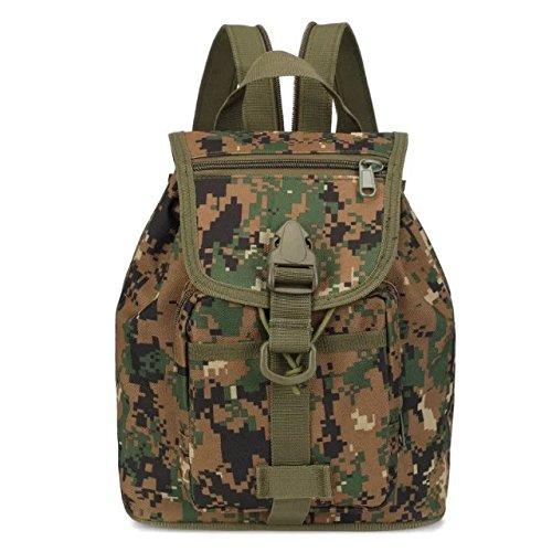 Goliton bolsas senderismo mochila hombres al aire libre de las mujeres bolsa de deporte, mochila, viaje bolso que acampa bolsas de senderismo - camuflaje verde