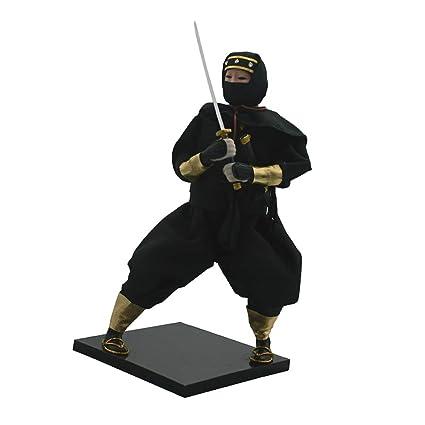 Amazon.com: Fityle 12inch Japanese Kimono Ninja Doll Kokeshi ...