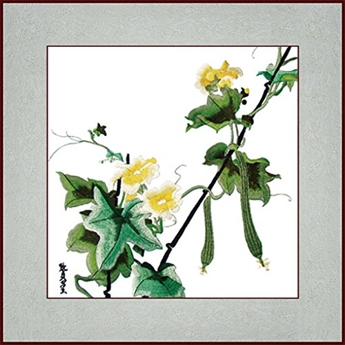 Grace Art, Silk Embroidery Art Wall Hanging, Luffa Vine