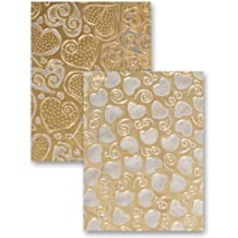 Spellbinders EL-012 M-Bossabilities Reversible Embossing Folder, Hearts