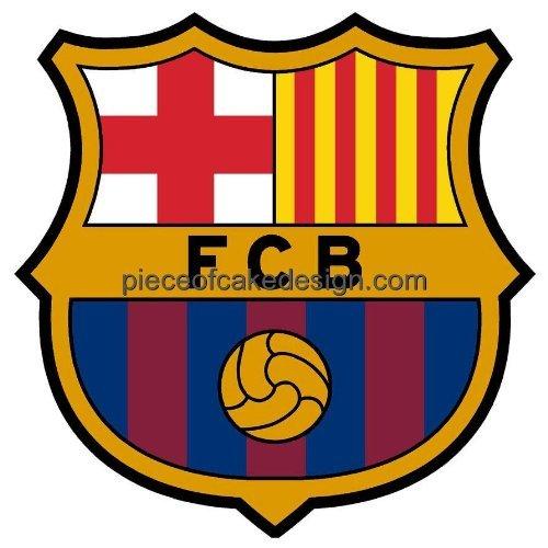 1/4 Sheet ~ FC Barcelona Logo Birthday ~ Edible Cake/Cupcake Topper!!!
