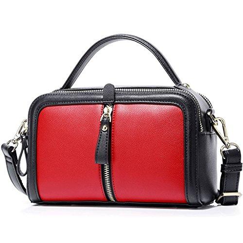 JIUTE Paquete Bolsos para Mujer Bolsa de Verano Nuevo Messenger Bag Mini Hombro para Hombro Salvaje Coreano (Color : Red) Red