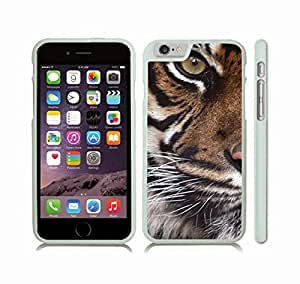 Case Cover For HTC One M9 with Eye of the Tiger, Photo, Close-up Snap-on Cover, Hard Carrying Case (White)