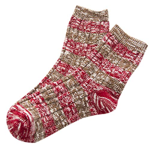HYIRI ✈ Xmas Christmas special Cotton Socks,Women's knitting Striped Print Winter Socks