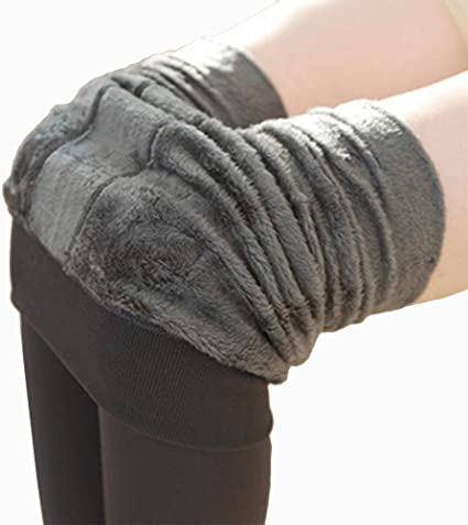 XINMINGREN Leggins For Women Winter Warm Knit Leggings Fleece Line Full Length Stretchy Tights Thermal Insulated Pants Trousers Thermal Tights Winter Leggings For Women