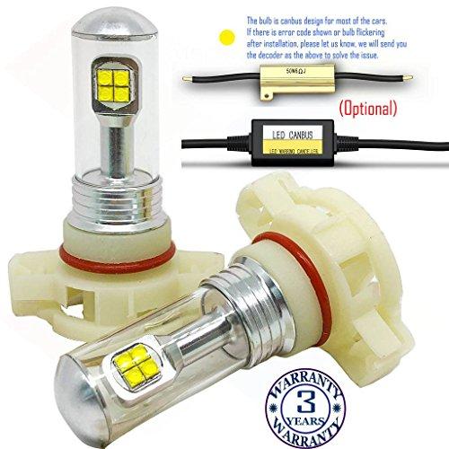 Wiseshine H16 2520 5202 9009 PS19W PSX24W PS24W 2504 red led fog light bulb...