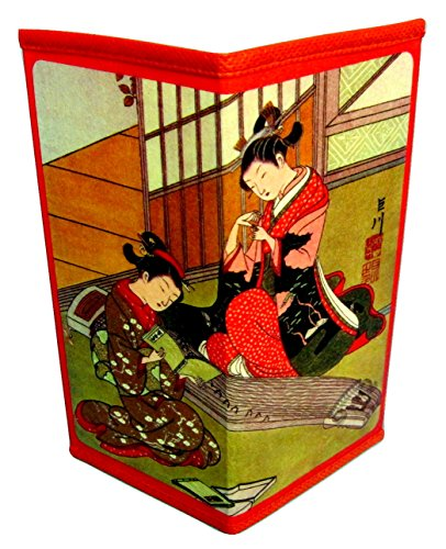 (Set of 4 Japanese Rice Paper Wallets Style Group