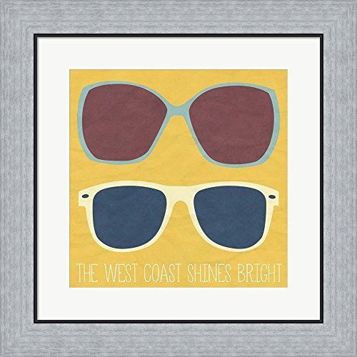West Coast II by SD Graphics Studio Framed Art Print Wall Picture, Flat Silver Frame, 19 x 19 inches