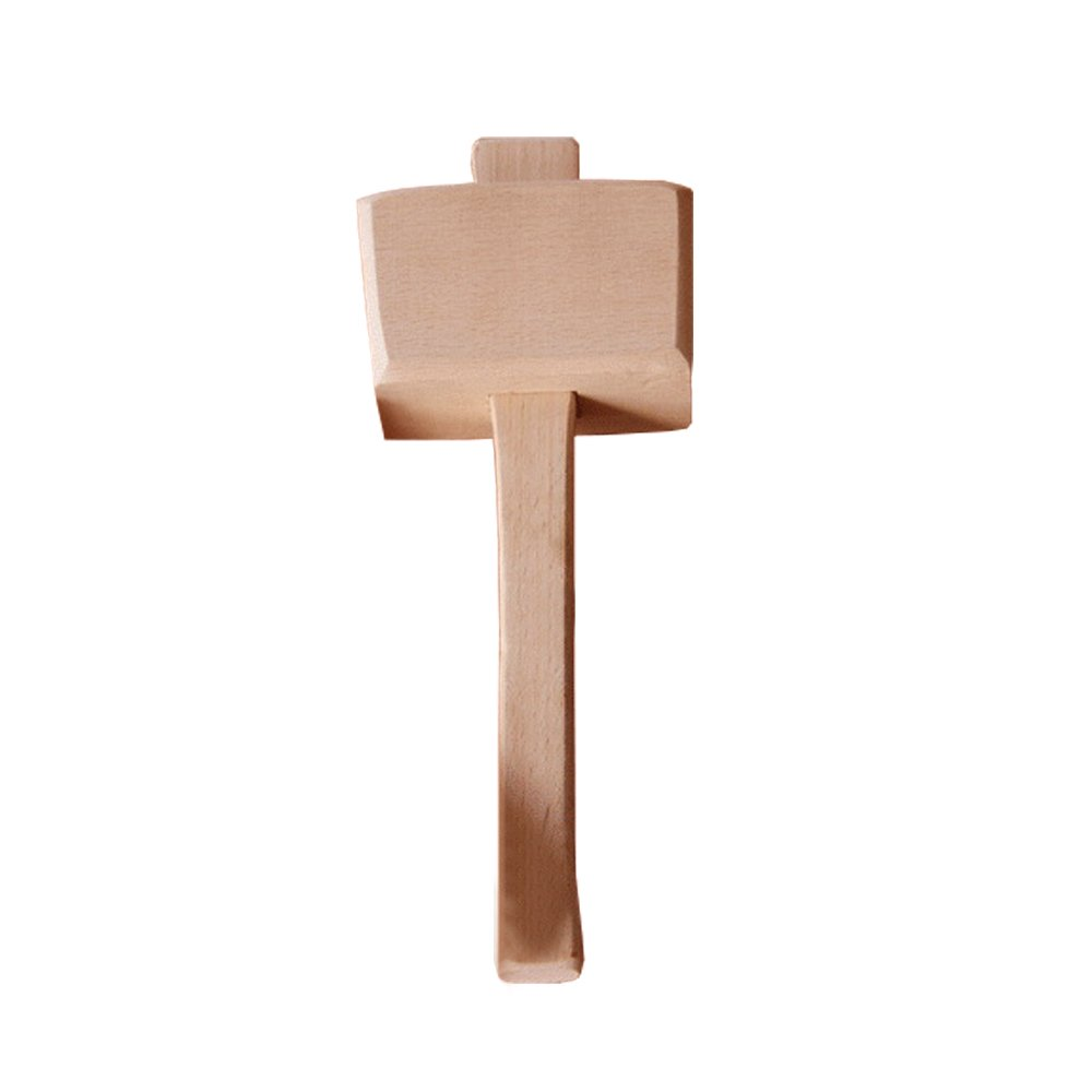 Wooden Mallet -Beechwood Woodworking Mallet with 4⅓ in Bora 1.9inx2.7in striking face,for Solid,Damage-Free Striking.