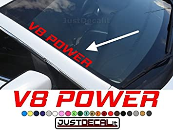 Auto Front Windshield Window Exterior Glass Banner Decal Sticker Power For Honda