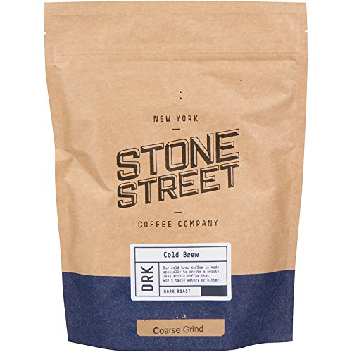 Stone Street Coffee Cold Brew Reserve Colombian Single Origin Coarsely Ground Coffee – 1 lb. Bag – Dark Roast
