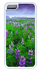 Beautiful Lavender Field DIY Rubber White Best Designed iphone 5C Case