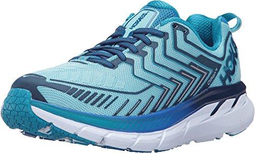 HOKA ONE ONE Women's Clifton 4 Shoe (10.5 B(M) US, Blue Topaz/Imperial Blue) ()
