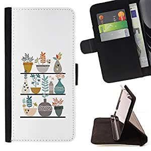 Jordan Colourful Shop - flower pot white clean sweet For Sony Xperia Z1 Compact D5503 - Leather Case Absorci???¡¯???€????€???????&bdq