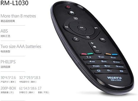 Huayu rm-l1030 mando a distancia para Philips TV: Amazon.es: Electrónica