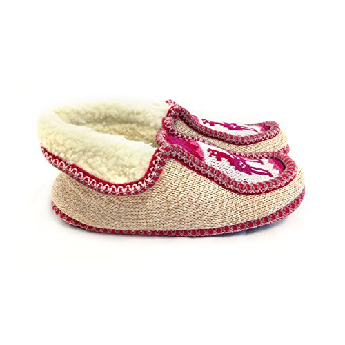 The Wool Argentino Real Handmade Slippers Moccasin Salta from Pink Inside Argentina TTrq4X