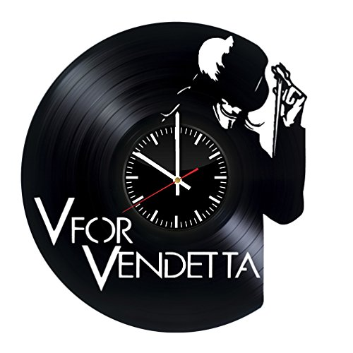 V for Vendetta Vinyl Record Wall Clock . Get unique home room wall art decor. Cool gift ideas for boys, girls, kids, teens, men and women.