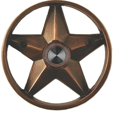 "Waterwood Brass Lone Star 3 1/4"" Doorbell in Oil Rubbed Bronze"