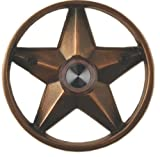 Waterwood Brass Lone Star 3 1/4'' Doorbell in Oil Rubbed Bronze