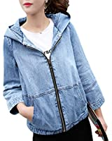 Beautifullight Great,Good looking NEW Autumn Retro Zipper Denim Jacket Loose Solid Spliced Casual concise
