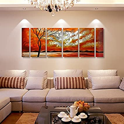 Amazon.com: Winpeak Art Original Handcraft Sunrise Seascape Metal ...