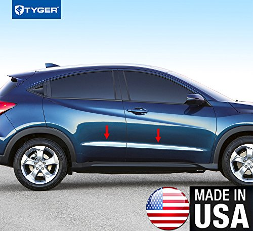 Tyger Auto Made In USA! TYGER Honda Specialty Trim Works With 2016-2018 HRV Above Body Line Upper Accent Trim 1.5'' Wide 4PC - 1 1/2' Wide Trim