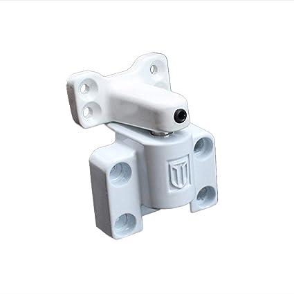 BESTOMZ Cerradura con Llave Deslizante para Ventana Puerta de Aluminio Acero Inoxible para Protección de Seguridad