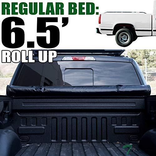 Topline Autopart Lock Roll Up Soft Vinyl Truck Bed Tonneau Cover For 88-00 Chevy/GMC C/K Pickup/Silverado/Sierra Standard/Extended Cab 6.5 Feet (78
