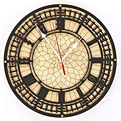 London Big Ben Large wooden wall clock Handcrafted Living Room and Office interior design vintage decorative personalized engraving custom size gift, steampunk British icon home decor