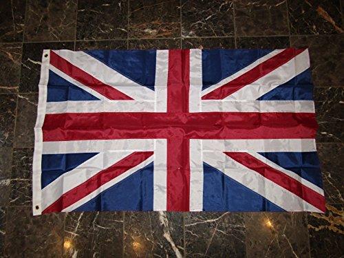 5x8 Embroidered Sewn UK United Kingdom British 300D Solarmax Nylon Flag 5'x8' (8 Foot British Flag compare prices)