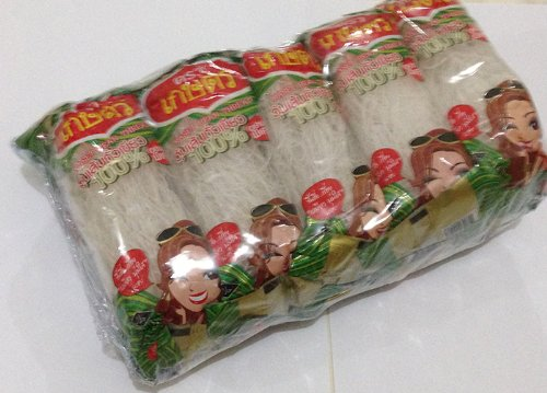 Kaset Bean Thread Glass Noodles 1.41 Oz (40 G) x 10 From Thailand ** BIG PACK ()
