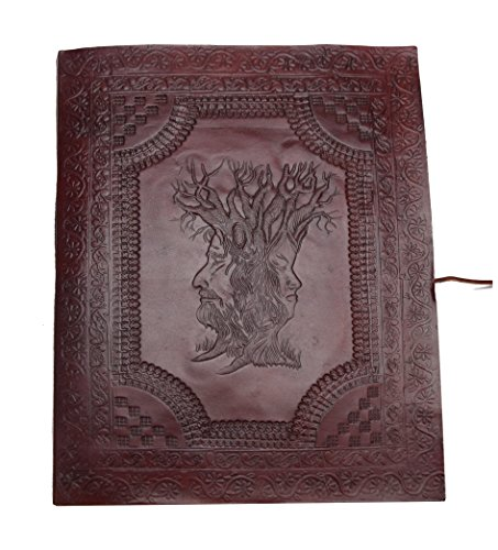 Wisdom Album (The Wisdom of Trees Photo Album XXL Vintage Buffalo leather Black cotton paper Embossed Elephant Horse Camel Handmade)