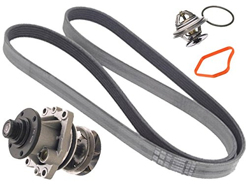 BMW 6cyl (93-99) GRAF Coolant Pump METAL +Belt +92c Thermostat ()