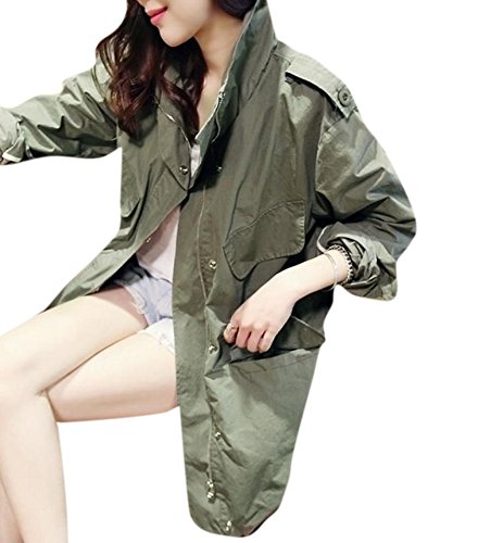 lingswallow-womens-army-green-casual-loose-pockets-long-trench-coat-outwear