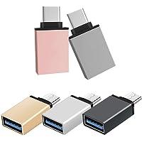 SourceTon Juego de 10, Adaptador USB C a USB 3.0 de Varios Colores, Adaptador Thunderbolt 3 a USB de Compatible con Mac Book, DELL XPS, Galaxy S10 S9 S8 Nota 9 y más Dispositivos de Tipo C
