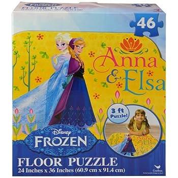 Amazon Com Frozen Floor Puzzles 46 Piece Toys Amp Games