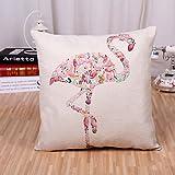 DEIDKE 1 Pcs Creative European Style Ostrich Printing Pillowcase Square Cotton/Linen Pillow Cover