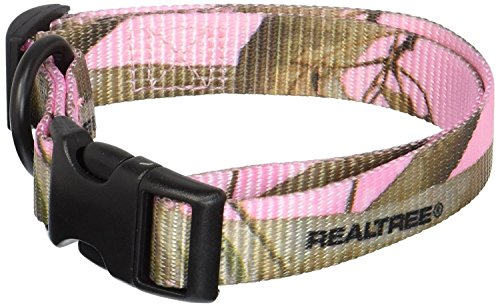 OmniPet Camouflage Kwik Klip Dog Collar, Medium, Pink