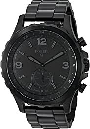 Fossil Men's Nate Stainless Steel Hybrid Smartwatch with Activity Tracking and Smartphone Notificat