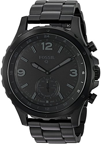 Fossil Q Nate Gen 2 Men's Black IP Stainless Steel Hybrid Smartwatch FTW1115 by Fossil