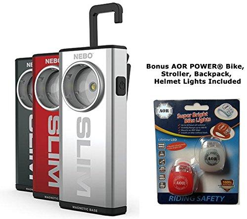 NEBO SLIM # 6694 500 Lumen Rechargeable Pocket Light with fu