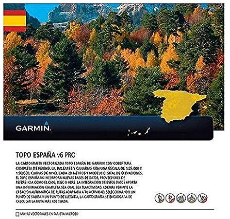 Garmin - Topo Spain v6 Pro MicroSD/SD, Color 0: Amazon.es ...