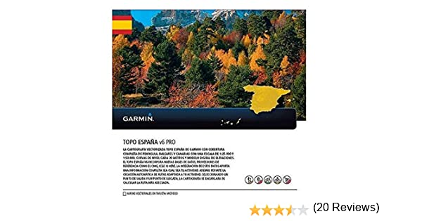 Garmin - Topo Spain v6 Pro MicroSD/SD, Color 0: Amazon.es ...