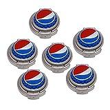 Jokari 6 Count Pepsi Modern Logo Soda Can Pump and Pour, Red/White/Blue